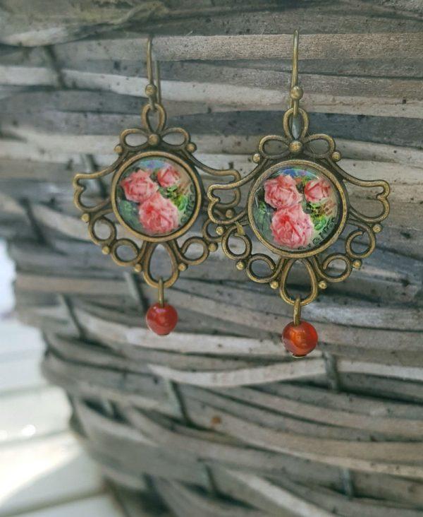 oorhangers rozen victoriaans