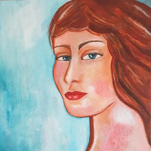Portret Acryl on Canvas Introvert
