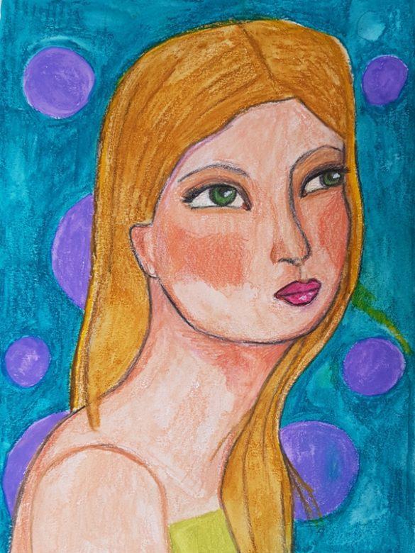 Portret Blue
