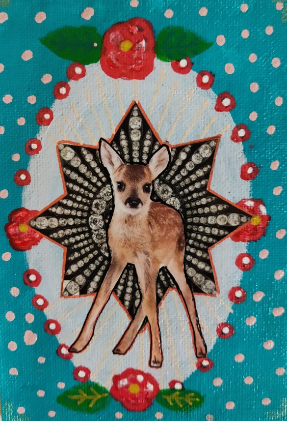 Postcard Deer ( Hertje )