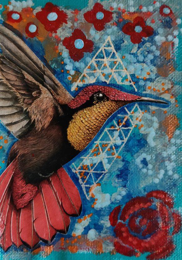 Postcard Hummingbird