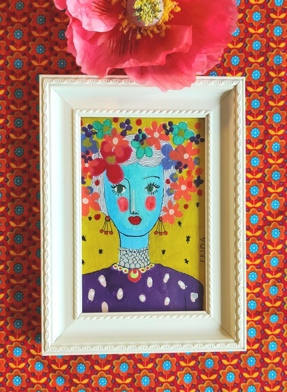 Portret Artwork Frida Kahlo